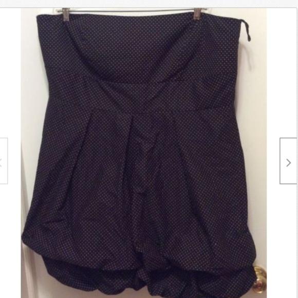torrid Dresses & Skirts - Torrid Dress 26W Blue Pink Polka Dot Strapless